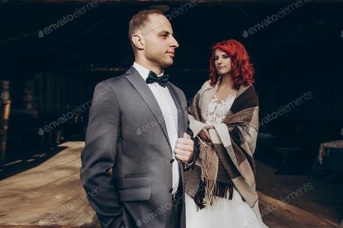 Rustikales Hochzeitskonzept im Sche