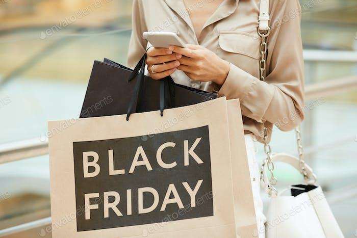 Doing shopping in black friday