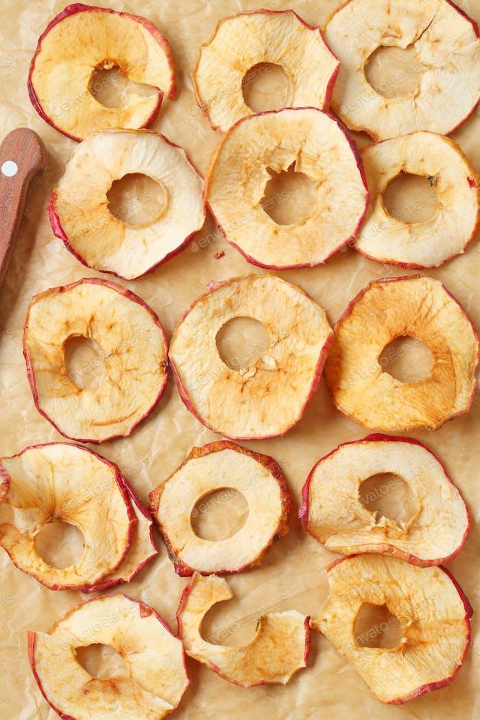Dünne Apfelchips
