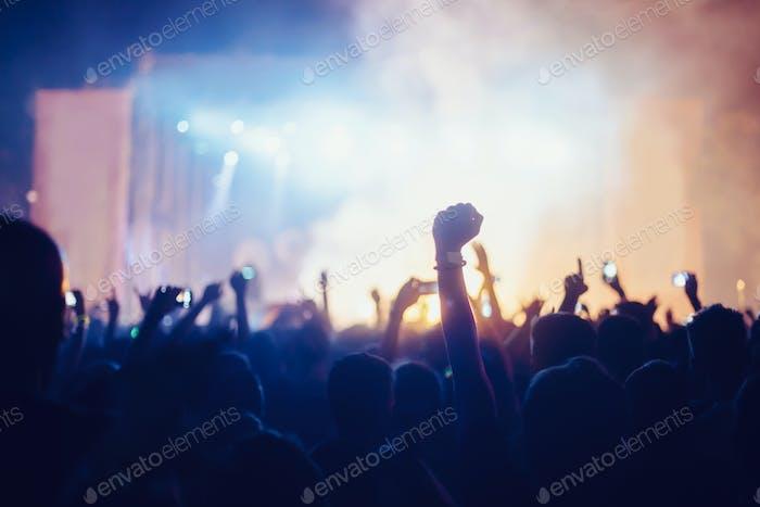 Bild von Partymenschen auf Musikfestival