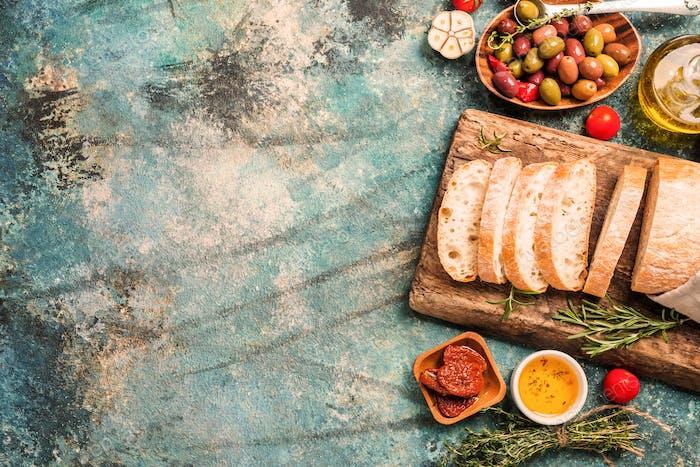 Italian fresh ciabatta bread