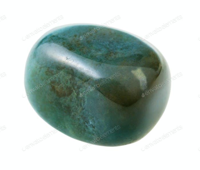 vesuvianite (idocrase) gemstone isolated on white