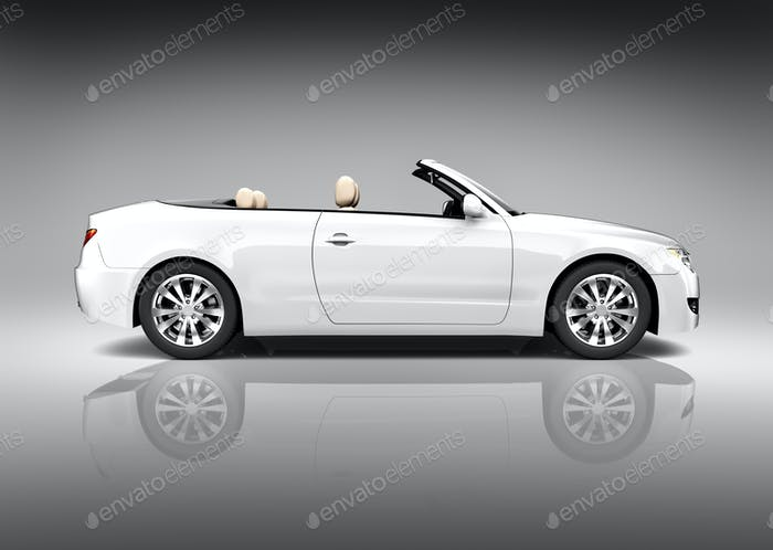 White Convertible Vehicle
