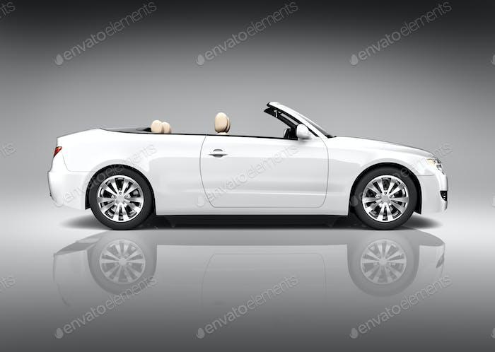 White Convertible Vehicle