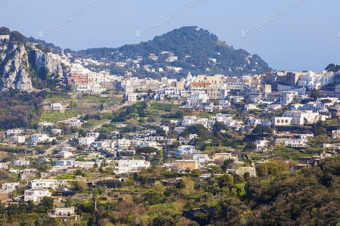 Panorama der Insel Capri