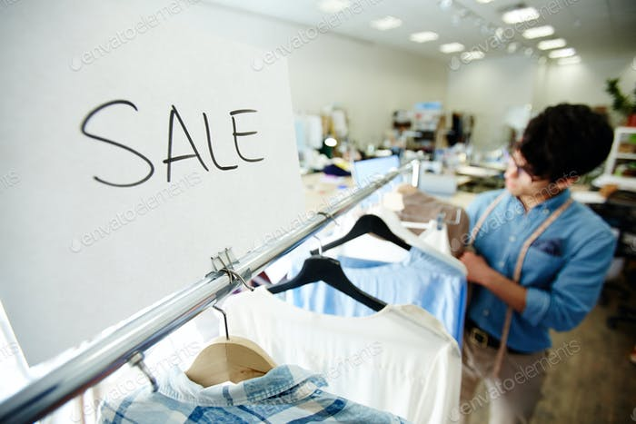 Sale in boutique