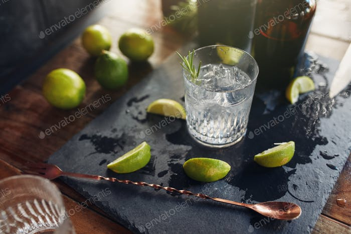 Fresh made cocktail drink