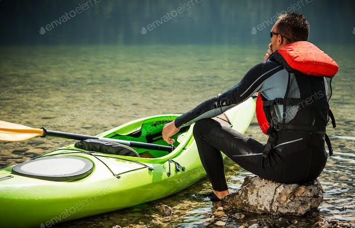 Tour Kajaker und der See