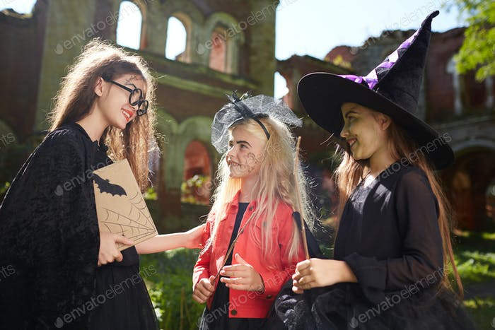 Three Girls Trick o Treating