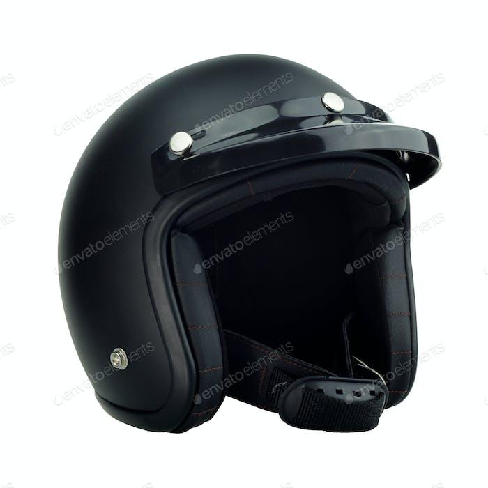 Black motorbike classic helmet