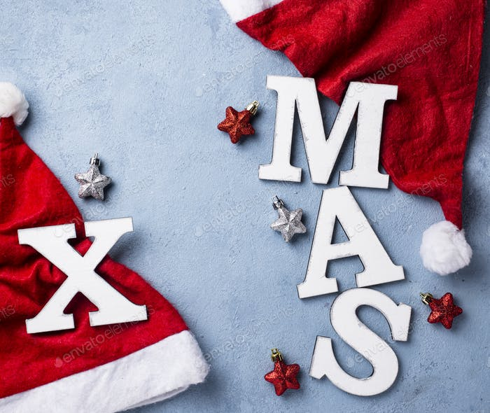 Weihnachten Hintergrund mit Buchstaben XMAS