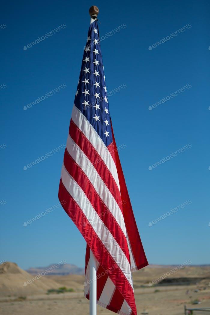 Amerikanische Flagge auf Pole