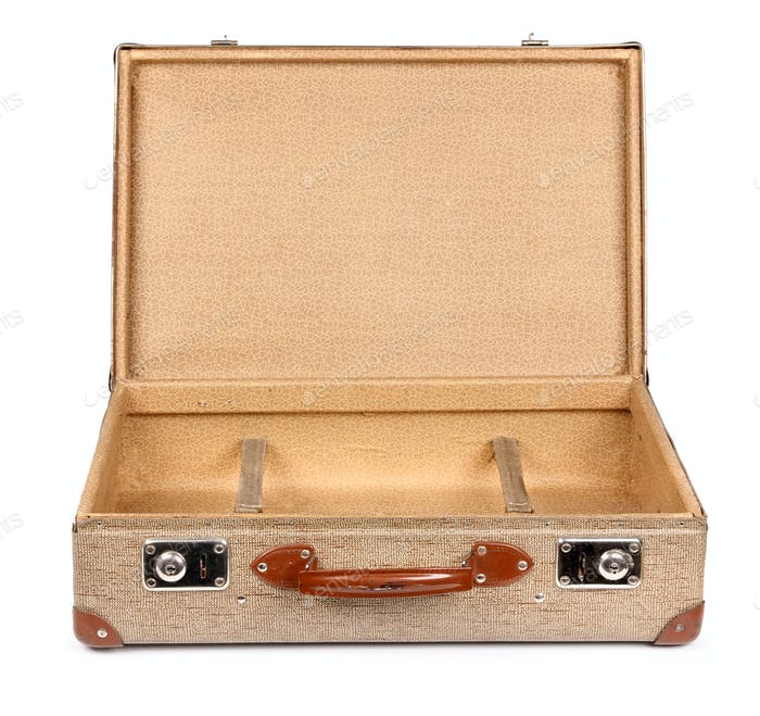 Vintage suitcase opened front