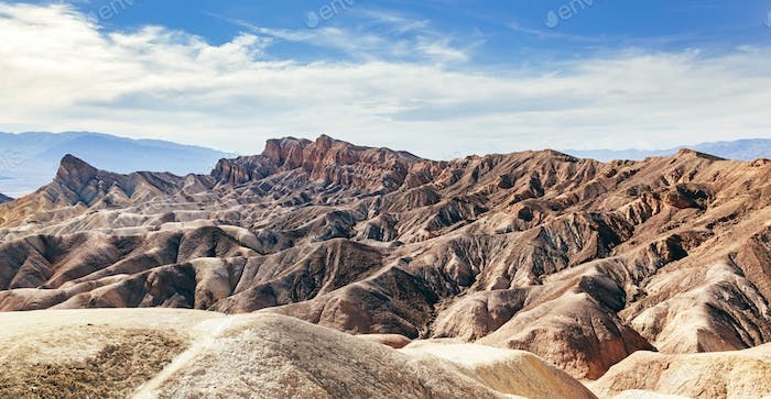 Death Valley badland landscape. California, USA