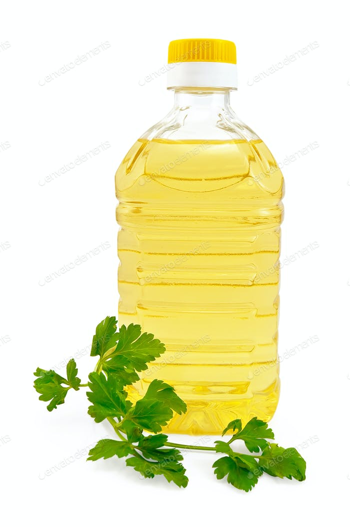 Vegetable oil with parsley
