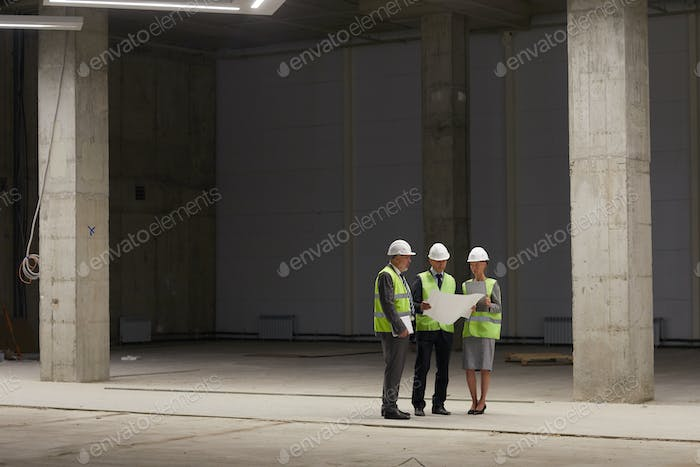 Inspection Committee at Construction Site