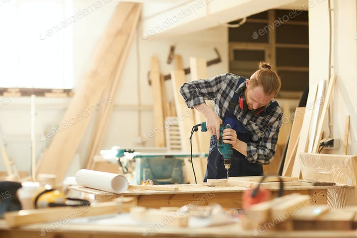 Carpenter Making Handmade Furniture