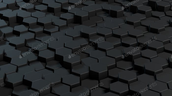 Abstract hexagons gray backdrop.