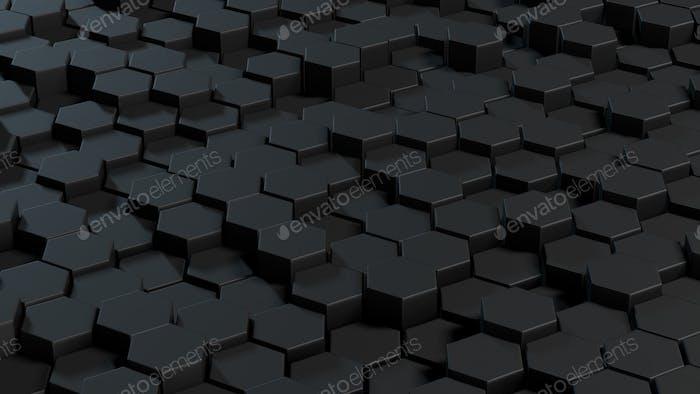 Abstrakte Hexagons grauer Hintergrund.