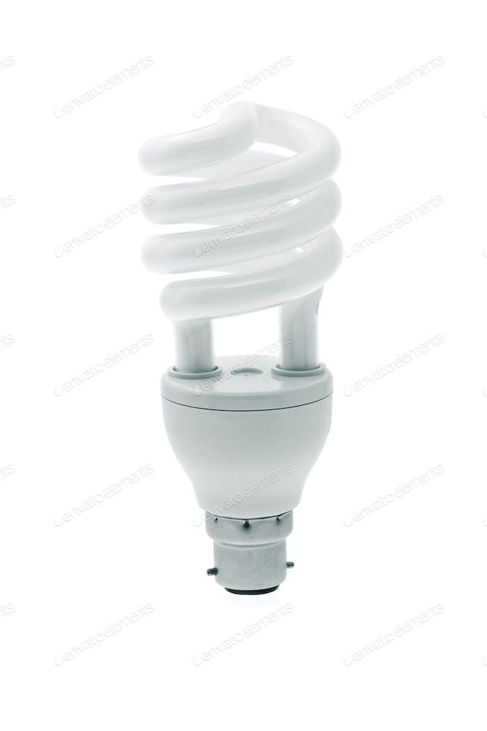 Spiral energy saving light bulb
