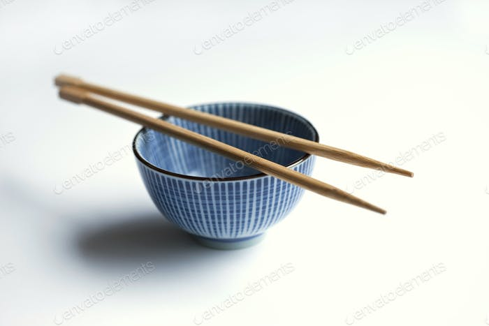 Porcelain bowl and chopsticks
