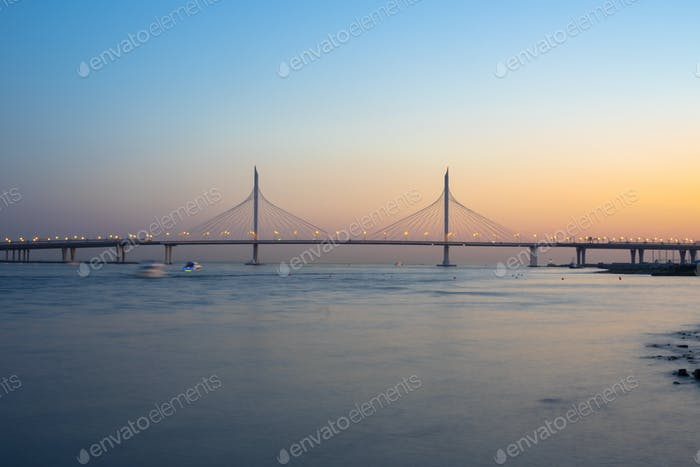 bridge across the Neva river