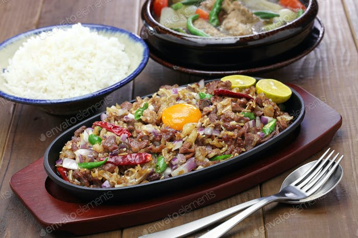sisig and sinigang, filipino cuisine