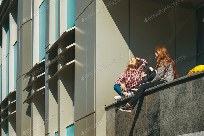 College students take a break after classes.