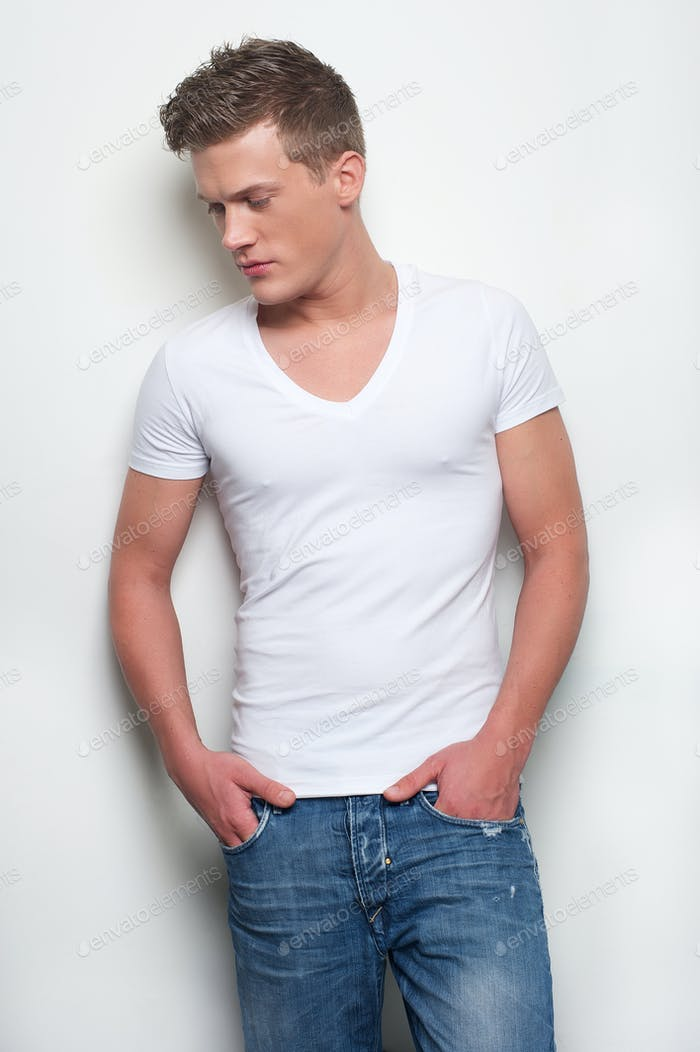 Handsome Guy in Jeans