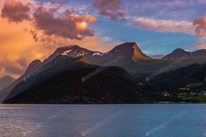 Paysage du fjord norvégien