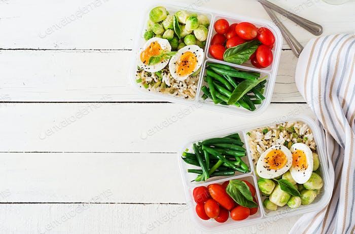 Dinner in lunch box.