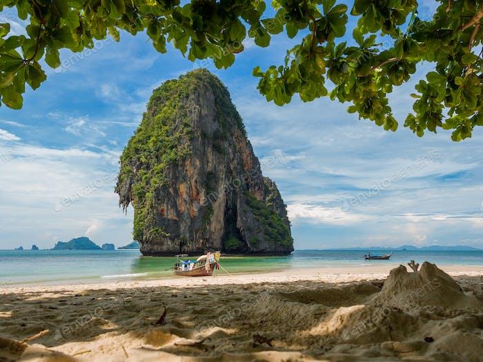 The railay tropical beach thailand