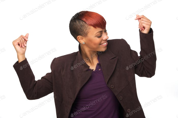 African American Woman Snapping her Fingers to Music