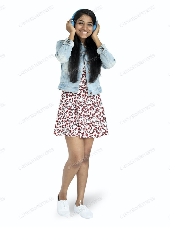 Indian teenage girl mockup