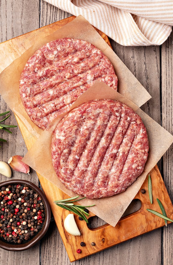 Raw Ground beef meat