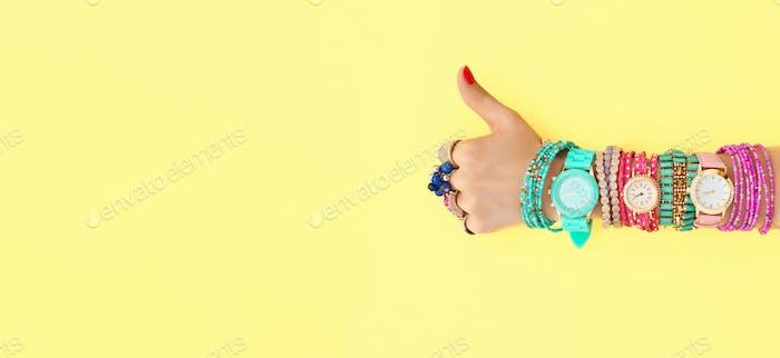 YES gesture