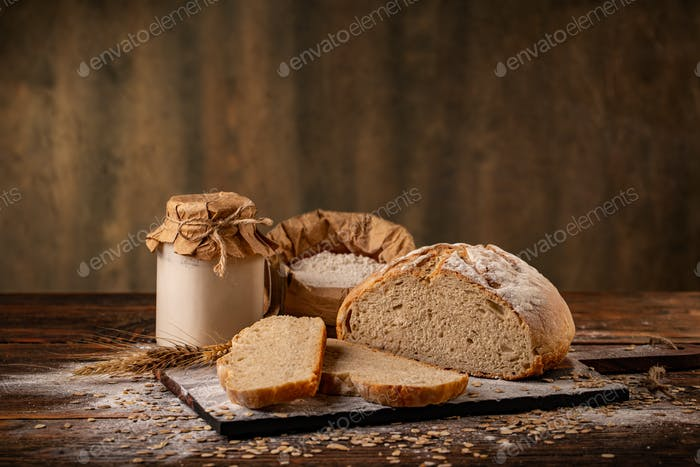 Homemade bread concept