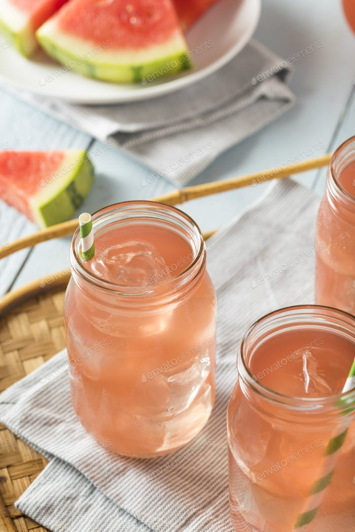 Refreshing Cold Watermelon Juice