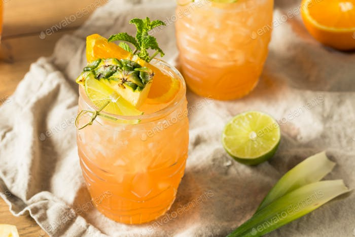 Refreshing Summer Tiki Cocktail Drink