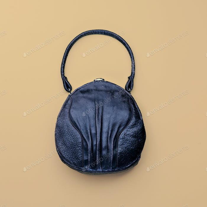 Vintage bag on a light background