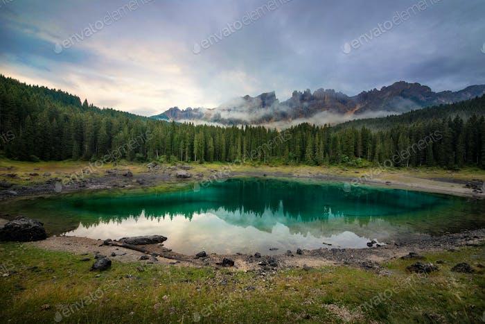 Lake carezza in italy