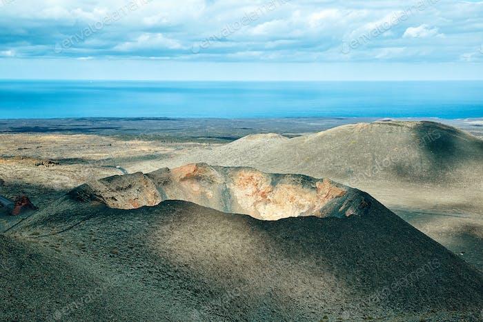 Volcano of Lanzarote Island, Spain