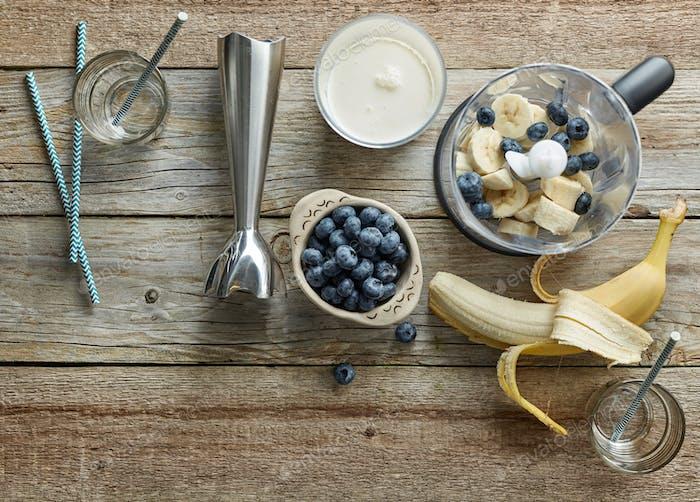 ingredients for making smoothie