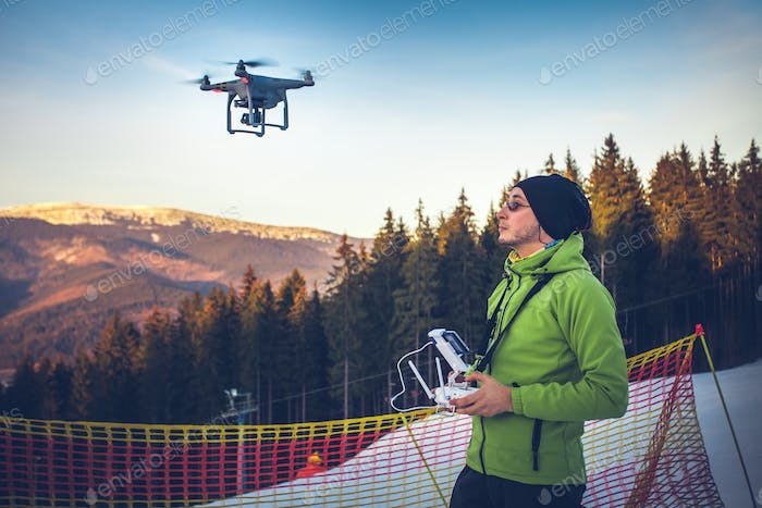 Thumbnail for Man operating a drone