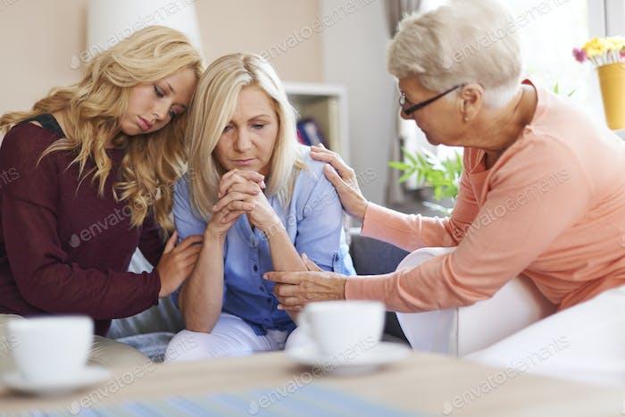 Die Anwesenheit von Familie ist die größte Unterstützung