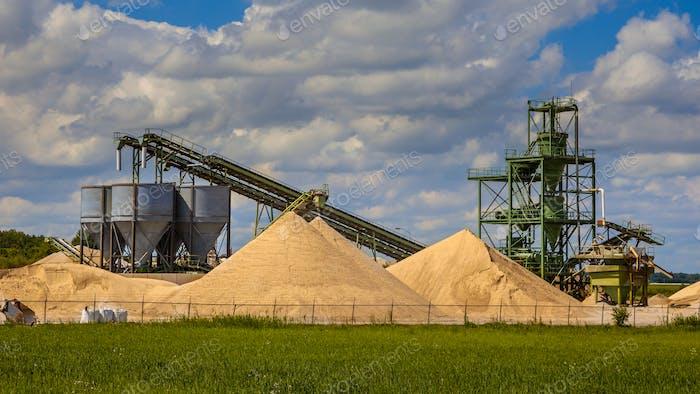 Sandminenanlage