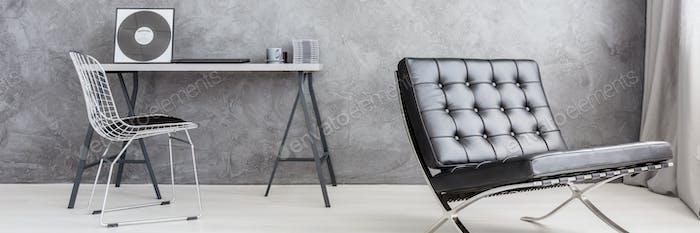 Ascetic comfortable minimalistic living room