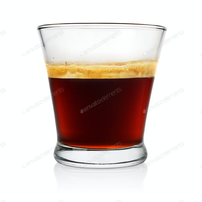 Espresso coffee glass