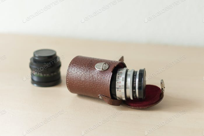 Old camera lenses