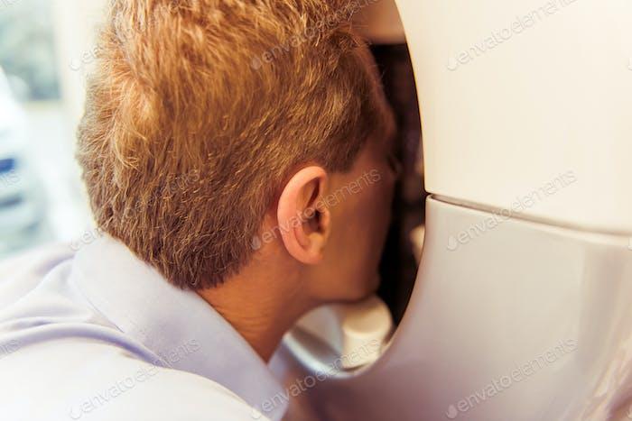 Man at medical examination